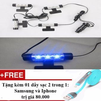 Đèn Led chiếu gầm ghế ô tô, xe hơi + Tặng 01 dây sạc điện thoại 2 trong 1 cho Iphone và Samsung