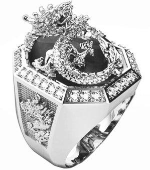 Nhẫn nam bạc mạ vàng trắng - NNAM090.