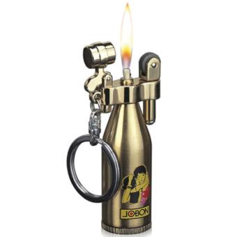 Bật lửa xăng đá Jobon hình chai rượu OEM (Vàng)