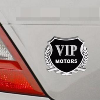 Logo nổi Vip Motor ( Bạc)