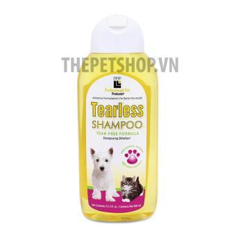 TEARLESS SHAMPOO - Dầu tắm cho chó mèo con hoặc chó mèo có da nhạy cảm 400ml