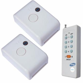 Bộ 02 công tắc điều khiển từ xa công suất 4000W TPE RC1A + remote 8 nút