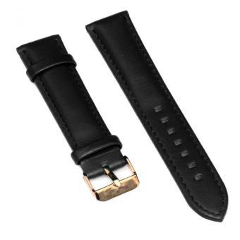 Dây da đồng hồ Wendy Size 20mm (Đen VV)
