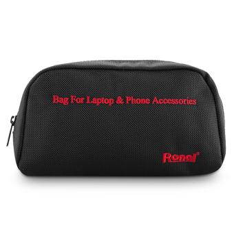 Túi phụ kiện Laptop & Phone (Đen chữ đỏ)