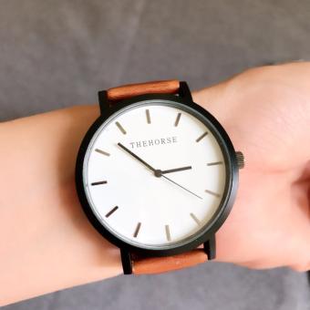 Đồng hồ nam thời trang THEHORSE-2 Nâu mặt trắng
