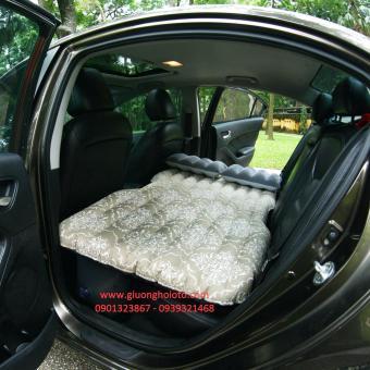 Giường hơi ô tô cao cấp hoa văn màu Be vàng