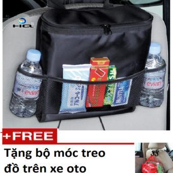 Túi Đựng Đồ Lạnh Du Lịch Trên Ôtô Tặng Kèm Bộ Móc Treo Đồ Tiện Dụng HQ 0TI66-081