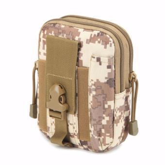 Túi đeo hông, thắt lưng đa năng thời trang N03 (Nâu trắng)