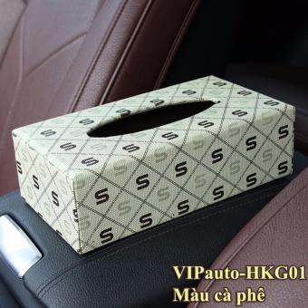 Hộp đựng khăn giấy trên ô tô VIPauto-HKG01 - Màu cà phê.