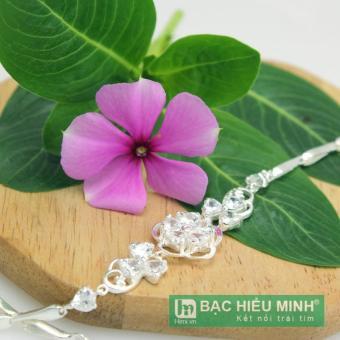 Lắc tay bạc Ý nữ Bạc Hiểu Minh hình bông hoa ltu238u