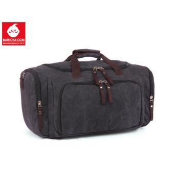 Túi xách du lịch canvas đen