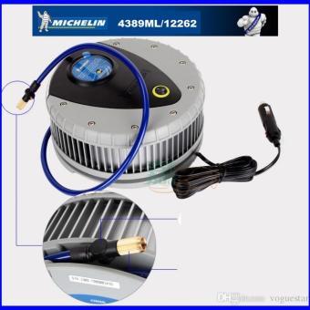 Máy bơm lốp 12V ô tô MICHELIN 4389ML 12262 (Xanh) + Tặng kèm 1 kẹp chì ắc quy ra tẩu thuốc