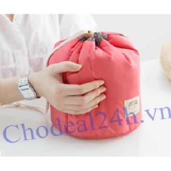 Túi đựng mỹ phẩm chống bể chai lọ ( hồng)