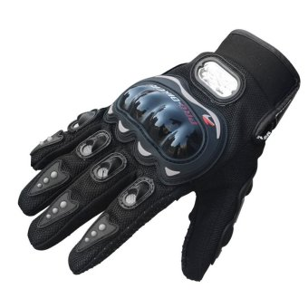 Carbon Fiber Pro-Biker Bike Motorcycle Motorbike Racing Gloves L - INTL