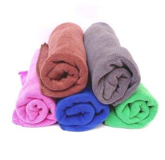 Bộ 5 khăn lau Ô tô microfiber siêu sạch 40cmx60cm