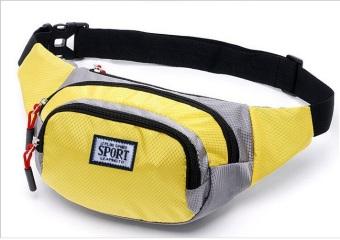Túi đeo hông du lịch thời trang chống nước thời trang phong cách thể thao (Vàng)