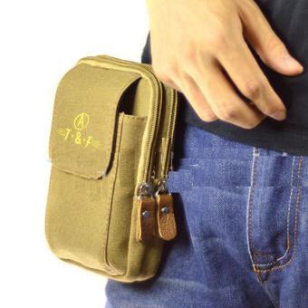 Túi ví đeo thắt lưng thể thao cao cấp H143 (Nâu vàng)