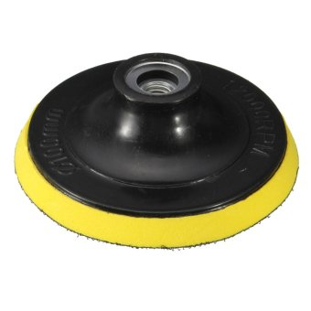 4 Inches 100mm Polisher Bonnet Backing Pad Angle Grinder Wheel Velcro Sand Paper Discs (Intl)