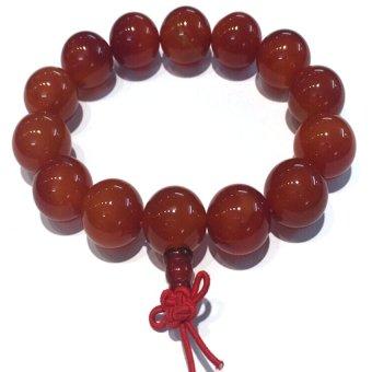 Vòng tay Đá mã não đỏ gắn Hồ lô may mắn Trang sức Minh Ngọc (đỏ)