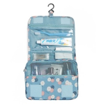 Túi đa năng chống thấm Toiletry nhiều ngăn (Hoa xanh)