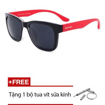 Kính mát nam Exfash EF 4711 033 (Đen đỏ) + Tặng 1 bộ tua vít sửa kính