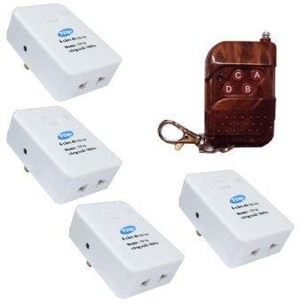 Bộ 4 ổ cắm và 1 remote điều khiển từ xa có hẹn giờ