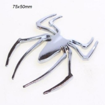 Decal spider inox (Bạc)