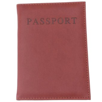 LALANG Fashion Passport Cover PU Leather Bag Casual Travel ID Card Holders (Yellow) - intl