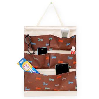 Túi treo 5 ngăn vải dày chống thấm + thanh gỗ (Đà)