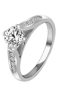 Bluelans Bridal Alloy Ring (Silver) (Intl)