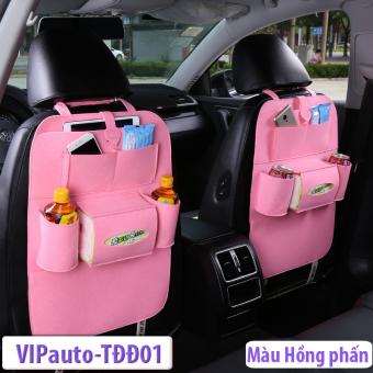 Túi đựng đồ ghế sau xe ô tô VIPauto-TĐĐ01 (Hồng phấn)