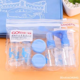 Bộ chiết mỹ phẩm mini 6 món tiện dụng cho bạn gái( Xanh)