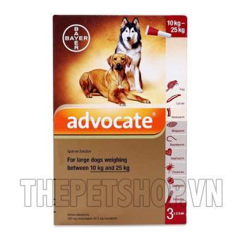 1 tuýp Thuốc trị nội ngoại kí sinh trùng Advocate spot on for dogs 10-25kg (tuýp lẻ)