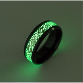 Nhẫn nam dạ quang phát sáng phong cách Âu Mỹ NN030