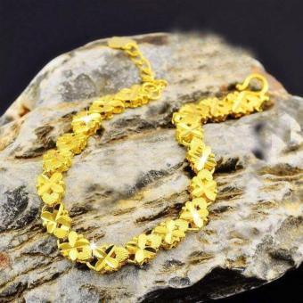 Lắc tay nữ cỏ 4 lá may mắn mạ vàng 18K Lamia (LAVT017)