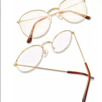 Bộ Đôi Mắt kính ngố gọng cận không độ Nobita nam-nữ thời trang mới KZY (Vàng)