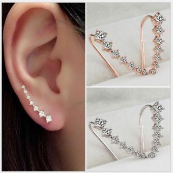 Bông tai nữ (Khuyên tai) đính đá độc đáo và cá tính mầu bạc (BT58-B)