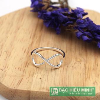 nhẫn nữ BẠC HIỂU MINH nu429 vô cực