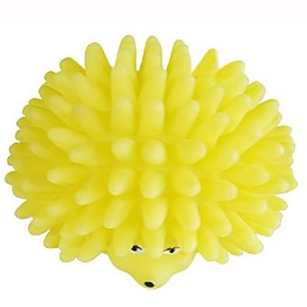 1pcs Cute Hedgehog Shape Pet Dog Puppy Squeaky Chew Squeaker Ball Funny Toy- - intl