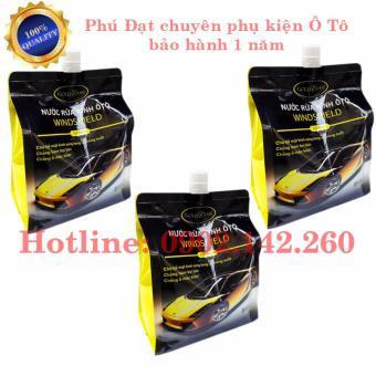 Combo 3 túi nước rửa kính Ô Tô WINDSHIELD Gold Class 2 Lít