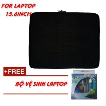 Túi chống sốc Laptop 15.6 Inch + bộ vệ sinh Laptop