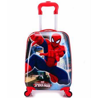 Vali kéo ABS chữ nhật hình siêu nhân nhện