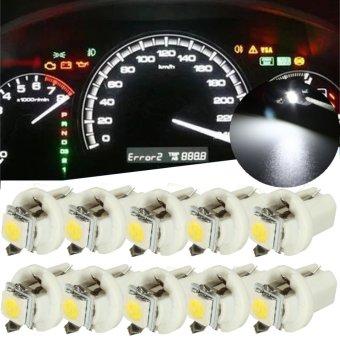 1 PCS T5 B8.5D Car Gauge 5050 1SMD LED Speedo Dashboard Dash Side Light Bulb 12V White - intl