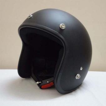 Mũ Bảo Hiểm 3/4 Dammtrax ĐEN TRƠN (Mũ đi phượt)