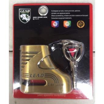 Ổ khóa đĩa xe máy HIGH_GRADE LOCK (Vàng đồng)