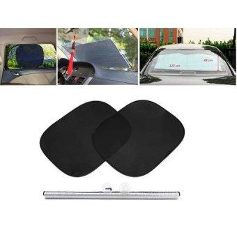 Bộ 2 màn che nắng phim cách nhiệt + 1 che chắn nắng phản quang 153x48 cho xe hơi