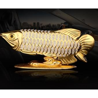 Cá Hải Tượng Vàng May Mắn Tài Lộc Đặt Trang Trí Trên Mặt Xe hơi, Xe Ô Tô ( Vàng)