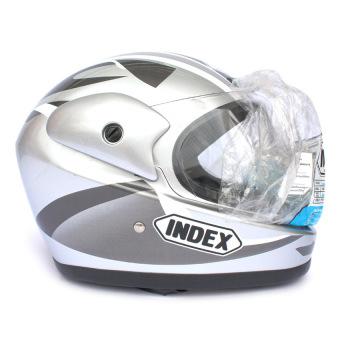 Mũ bảo hiểm INDEX 411 (Trắng bạc)