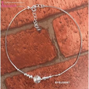 Lắc chân bạc nữ S925 Bạc Xinh - Tiền xu cầu may mắn RYBJ50067