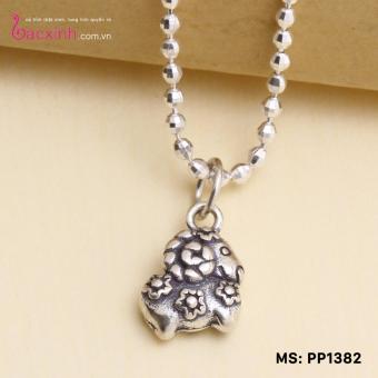 Mua Mặt đeo dây chuyền, lắc tay, lắc chân cho bé 12 con giáp bạc Thái S925 Bạc Xinh - Quà tặng tuổi Mùi PP1382 giá tốt nhất